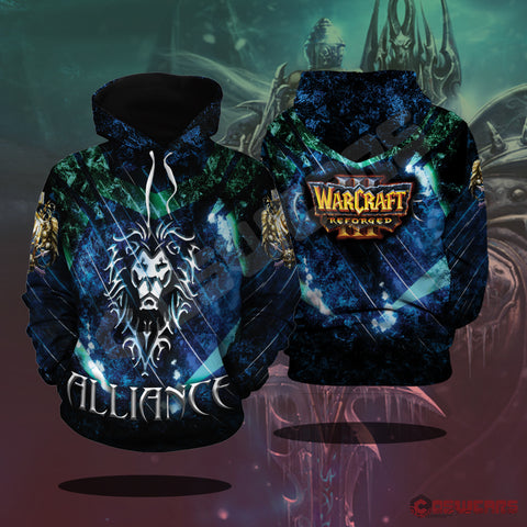 Warcraft : Alliance Inspired Pullover Hoodie