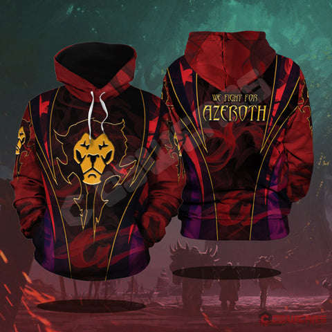 Warcraft : Azeroth Inspired Pullover Hoodie