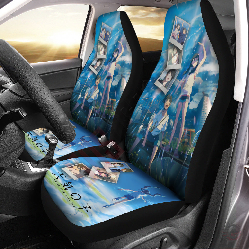 Weathering With You : Hodaka And Hina Inspired Car Seat Cover