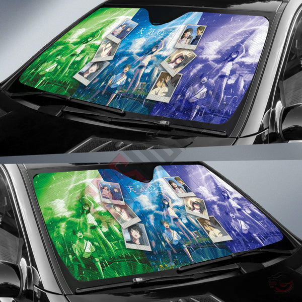 Weathering With You : Hodaka And Hina Inspired Car Sun Shade