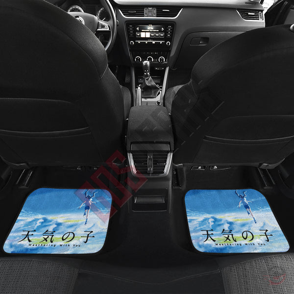 Weathering With You : Hodaka And Hina Inspired Car Floor Mat