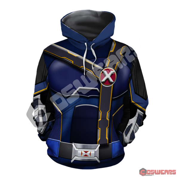 X-Men Cyclops Inspired Pullover Hoodie