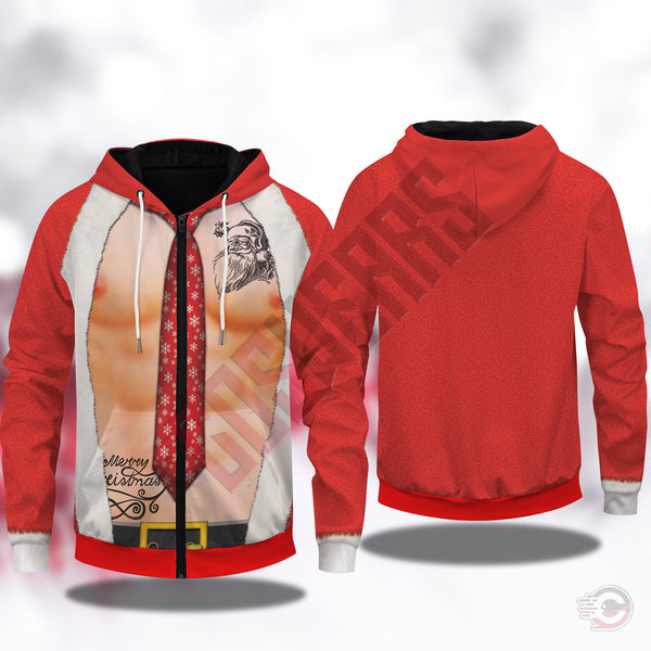 Christmas : Sexy Holiday Skin Zipped Hoodie