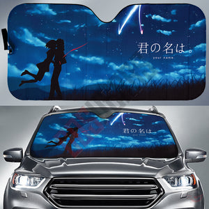 Your Name : Taki And Mitsuha Car Sun Shade