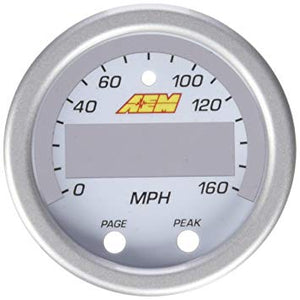 X-Series GPS Speedometer Gauge 0~160mph / 0~240kph Accessory Kit. Silver Bezel & White Faceplate