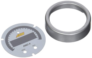 X-Series OBDII Gauge Accessory Kit. Silver Bezel & White Faceplate