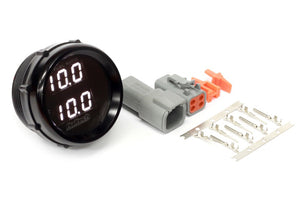Wideband O2 Dual Channel Gauge Black Bezel with White LED Display SIZE: 52mm (2 1/16