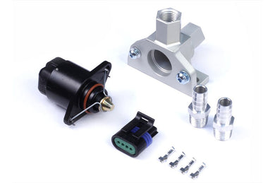 Idle Air Control Kit - Billet 2 Port Housing with 2 Screw Style Motor THREAD: 1/4 BSP