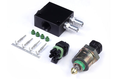 Idle Air Control Kit - Billet 4 Port Housing with Screw-in Motor THREAD: 1/4 BSP