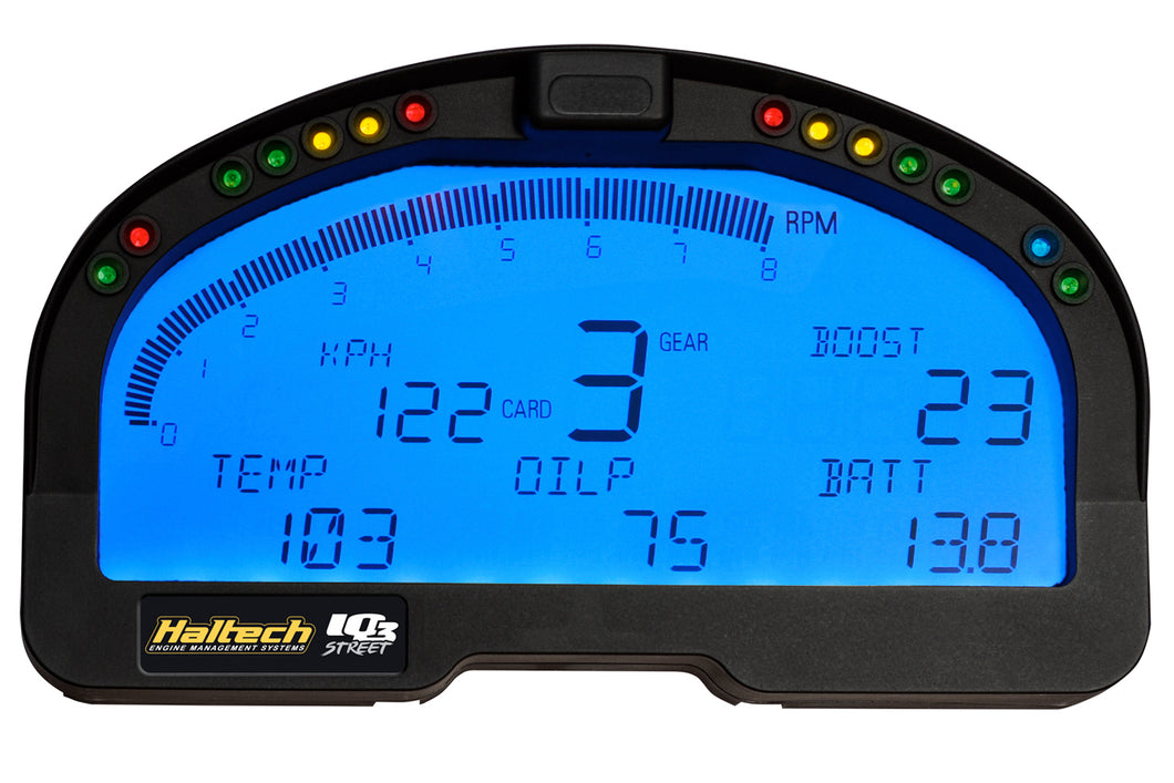 Haltech IQ3 Street Display Dash 20 EFI + 32 V-NET + 6 Direct input channels