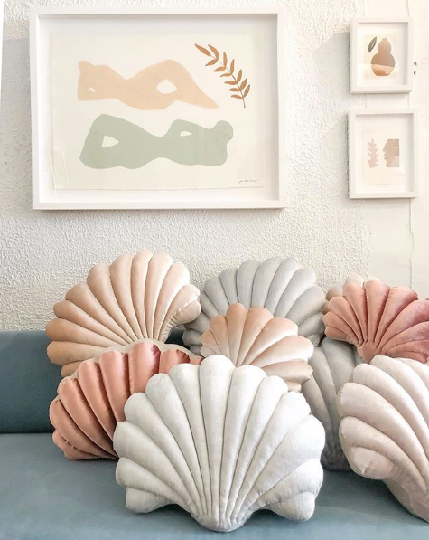 Shell pillows by Tamar Mogedorff at Adaptations
