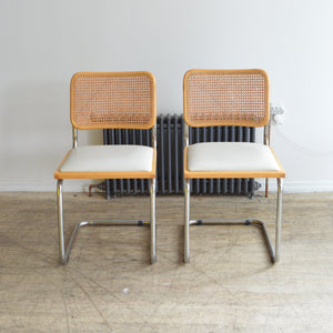 Chrome Cesca Cantilever Cane Back Chairs