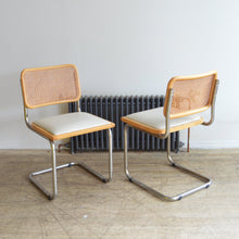 Load image into Gallery viewer, Chrome Cesca Cantilever Cane Back Chairs