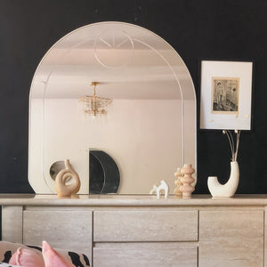 Etched Gumdrop Mirror