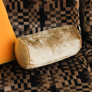 Velvet Bolster Pillow - Gold