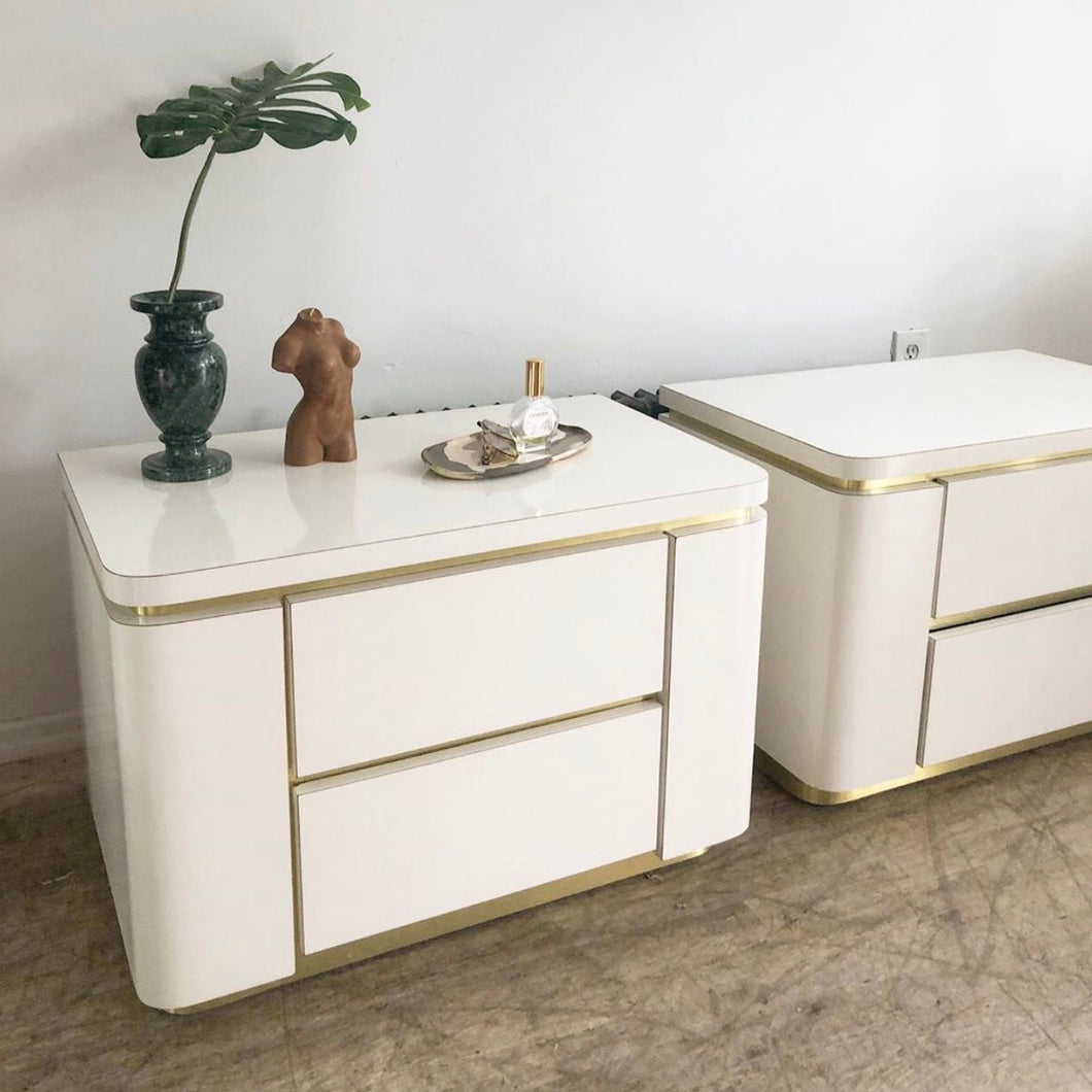 Ivory & Brass Nightstands