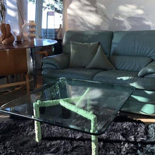 "Load image into Gallery viewer, ""At Home"" Crema Mint Coffee Table"