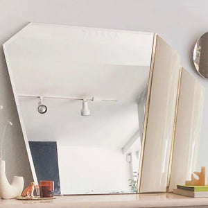Lacquered Fan Mirror