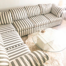 Load image into Gallery viewer, Striped Sectional Sofa