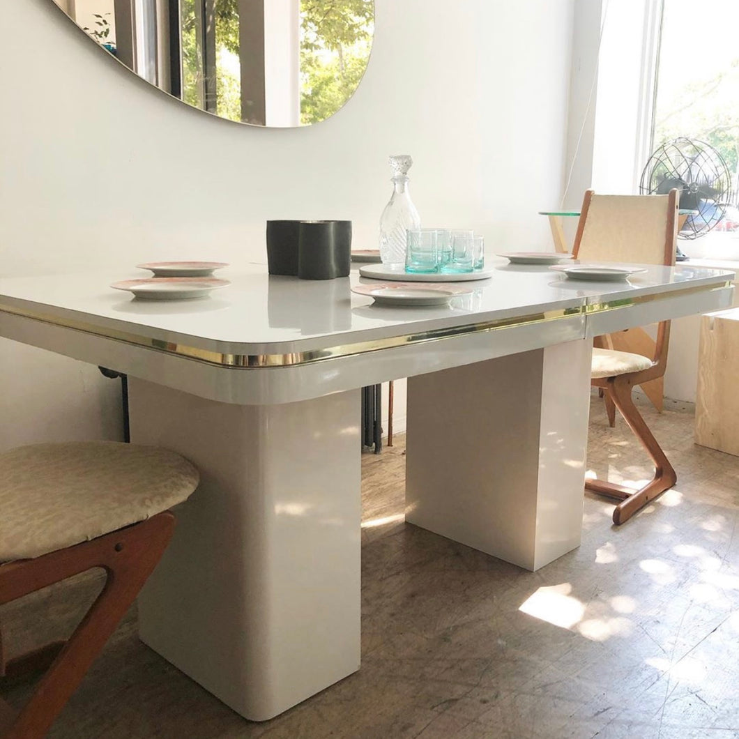 Ivory Laminate Dining Table