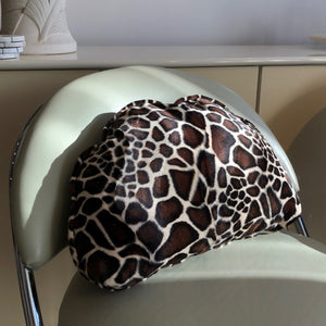 Velvet Half Moon Pillow - Giraffe