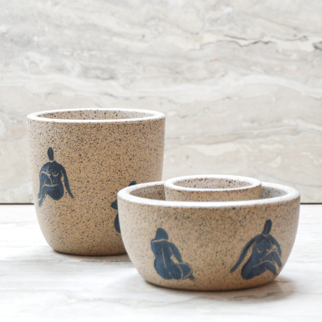 Lady Conversation Pit Bowls by HEA Ceramics