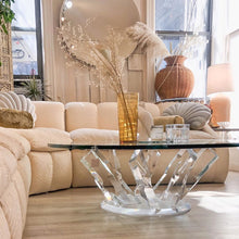 Load image into Gallery viewer, Lucite and Glass Crystal Coffee Table **SALE**