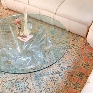 Lucite and Glass Crystal Coffee Table **SALE**