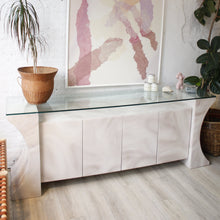 Load image into Gallery viewer, Marbled Ecru & Lavender Credenza