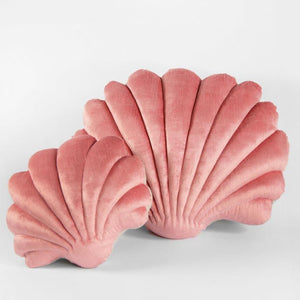 Shell Pillow in Rose Velvet - Small