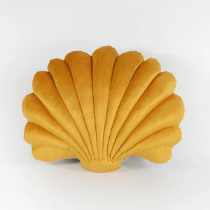 Shell Pillow in Cumin Velvet - Large