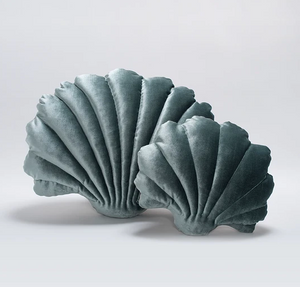 Shell Pillow in Pine Velvet - Small