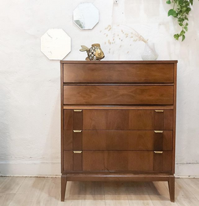 Walnut Deco Tallboy