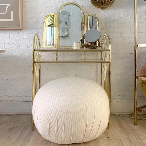 Ivory Bubble Pouf