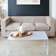 Load image into Gallery viewer, Milo Baughman Style Suede Sofa