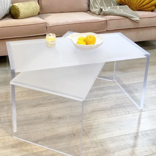 Acrylic Frosted Bench / Coffee Table