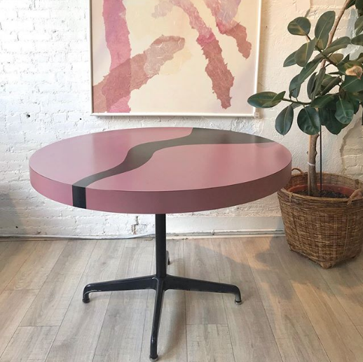 Noir River Round Dining Table