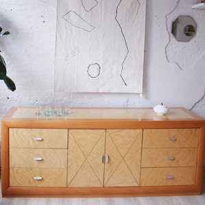 Blonde Burl Wood Dresser
