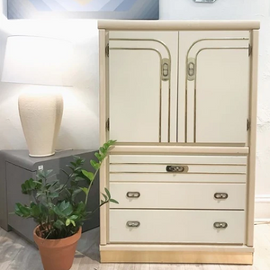Ivory and Brass Tallboy