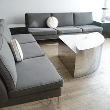 Load image into Gallery viewer, Knoll Charcoal Grey Sofa