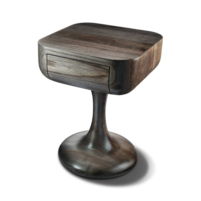 Sculptural Walnut Nightstand by OT/TRA