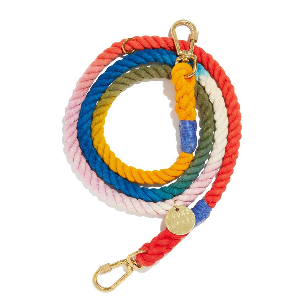 Henri Ombre Cotton Rope Dog Leash, Adjustable
