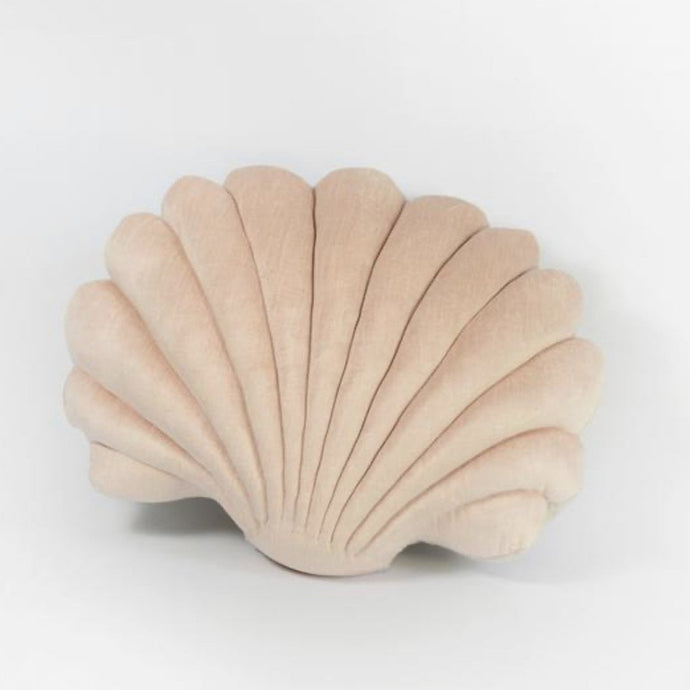 Shell Pillow in Coral Velvet - Large