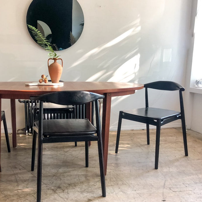 Mid Century Ebony Horn Chairs