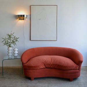 Rust Lips Sofa
