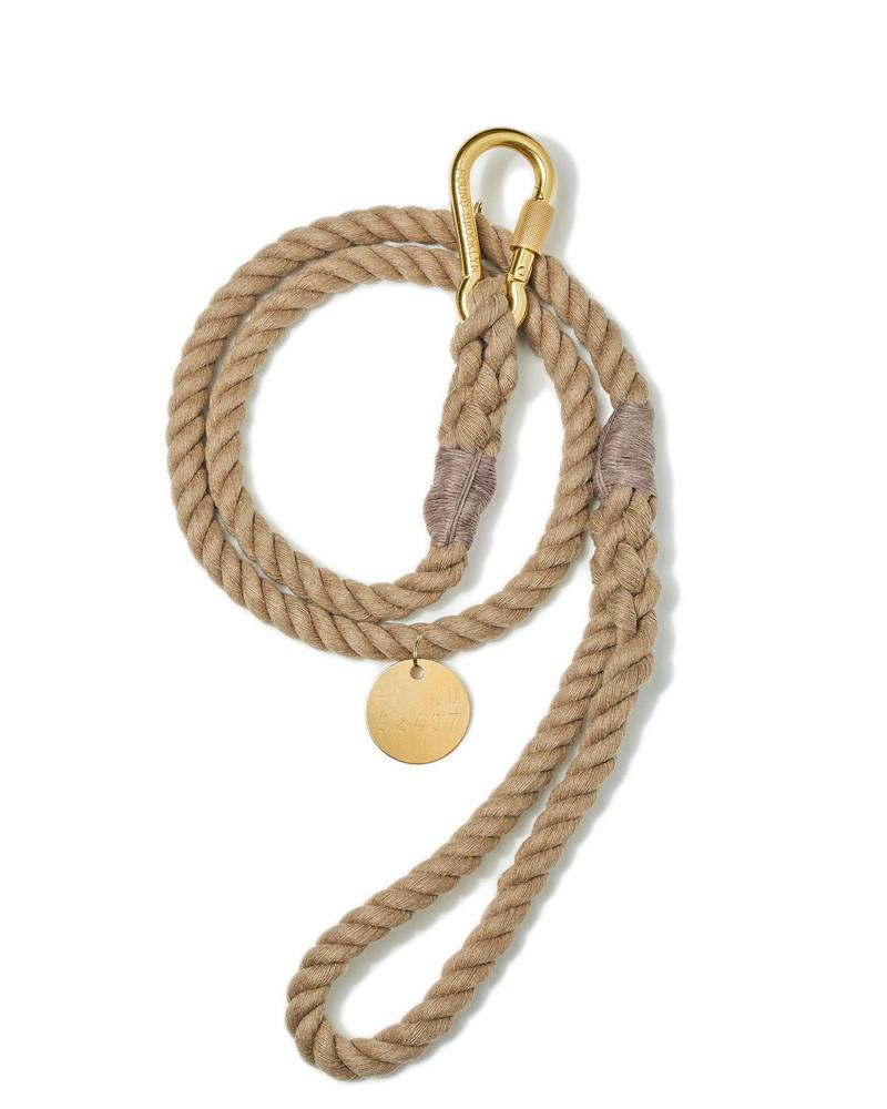Leash Natural Standard Brass - 5 Ft/183 cm Length by Found My Animal