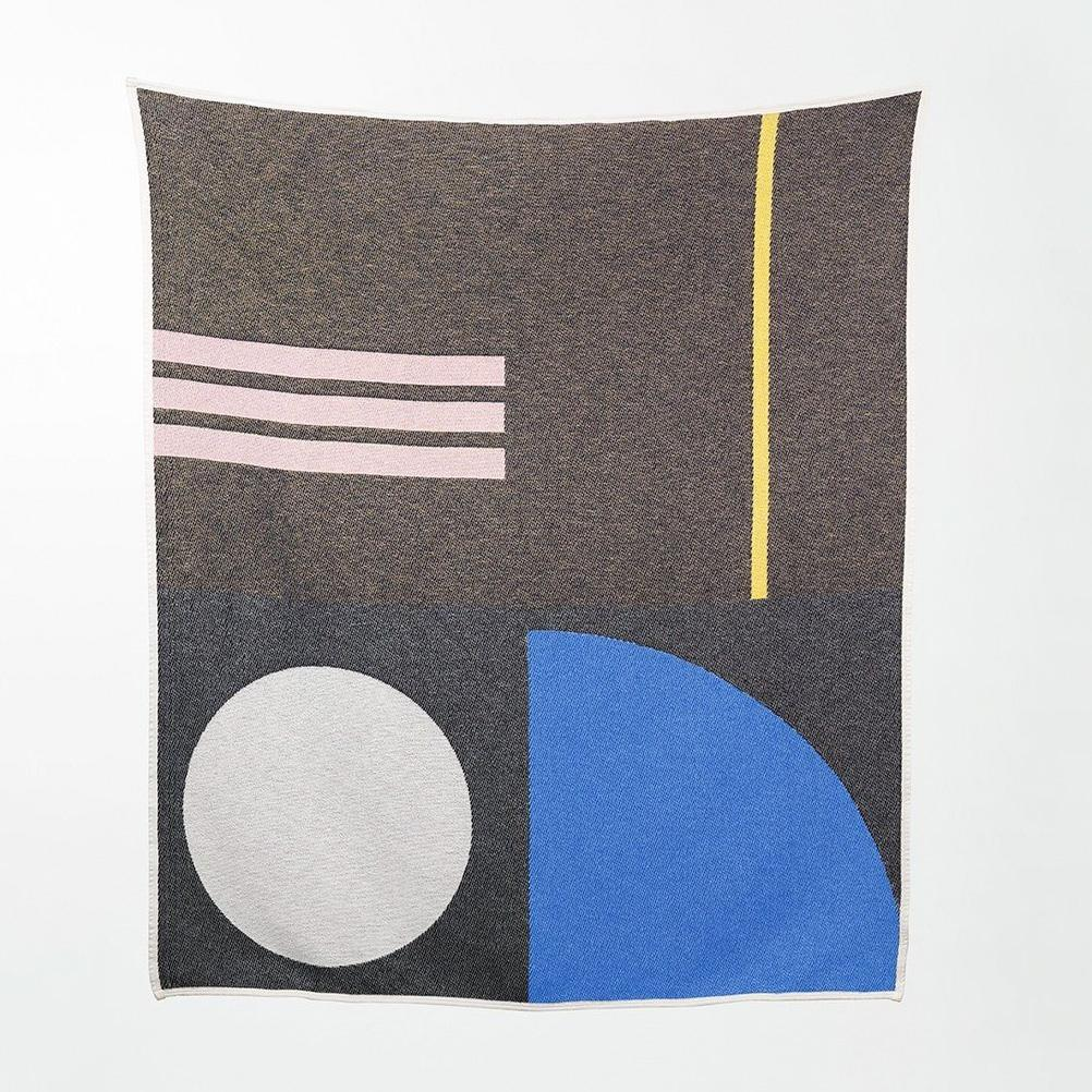 BAUHAUSED 5 Cotton Blanket/Throw by Sophie Probst