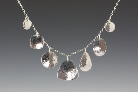 Hammered Shapes Necklace