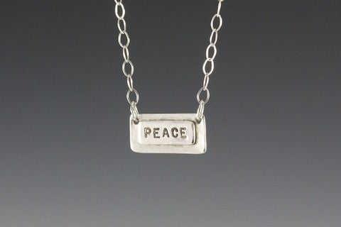 Rectangle Sentiment Necklace