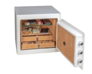Gardall Jewelry Safe White Open